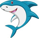 szczęśliwy kreskówka rekin ilustracji