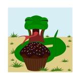 Szczęśliwy kreskówka wąż ilustracja wektor
