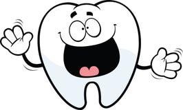 Szczęśliwy kreskówka ząb Obraz Royalty Free