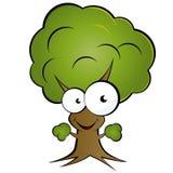 szczęśliwy kreskówki drzewo royalty ilustracja