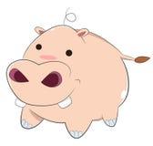 Szczęśliwy kreskówki dziecka hipopotam Obraz Royalty Free