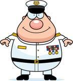 Szczęśliwy kreskówki marynarki wojennej Admiral ilustracji