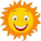 szczęśliwy kreskówki słońce Zdjęcia Royalty Free