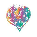 Szczęśliwy kształt serce Zdjęcia Stock