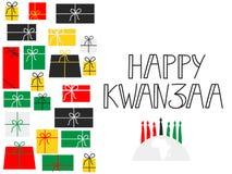 Szczęśliwy Kwanzaa dekoracyjny kartka z pozdrowieniami Fotografia Royalty Free