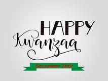 Szczęśliwy Kwanzaa dekoracyjny kartka z pozdrowieniami Zdjęcia Stock