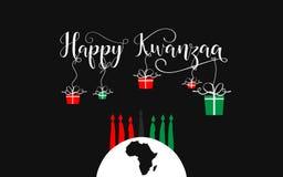 Szczęśliwy Kwanzaa dekoracyjny kartka z pozdrowieniami Zdjęcie Stock