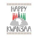Szczęśliwy Kwanzaa dekoracyjny kartka z pozdrowieniami Obraz Royalty Free