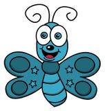 Szczęśliwy latający motyl Fotografia Stock