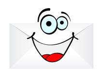 szczęśliwy list ilustracja wektor