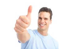 szczęśliwy mężczyzna Obrazy Royalty Free