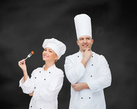Szczęśliwy męski szefa kuchni kucharza główkowanie Obraz Stock
