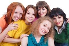 szczęśliwy młode kilka kobiety Fotografia Royalty Free