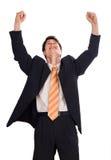 Szczęśliwy młody biznesmen Zdjęcie Stock