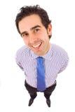 Szczęśliwy młody biznesowy mężczyzna Zdjęcia Stock