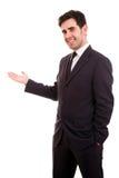 Szczęśliwy młody biznesowy mężczyzna fotografia royalty free