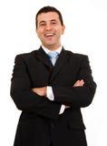 Szczęśliwy młody biznesowy mężczyzna Fotografia Stock