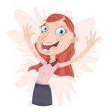 Szczęśliwy młody bizneswoman Obrazy Stock