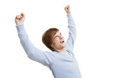 Szczęśliwy młody człowiek obrazy royalty free