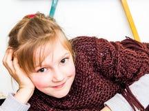 małej dziewczynki kłaść Zdjęcia Stock