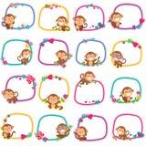 Szczęśliwy małpi układu projekt Fotografia Stock