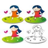 szczęśliwy mały dziewczyny Fotografia Stock