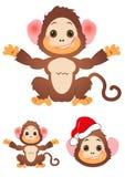 Szczęśliwy mały małpa set Obraz Stock