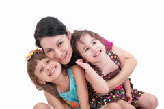 Szczęśliwy macierzysty i dwa córki Zdjęcie Stock