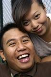 szczęśliwy malay pary zdjęcie royalty free
