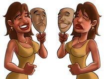 szczęśliwy maskowy smutny Obrazy Royalty Free