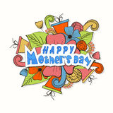 Szczęśliwy matka dnia świętowania plakat lub sztandar Obraz Stock