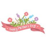 Szczęśliwy matka dnia kwiecisty powitanie Obrazy Royalty Free