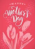 Szczęśliwy matka dnia literowanie matka dnia kartka z pozdrowieniami Obraz Royalty Free