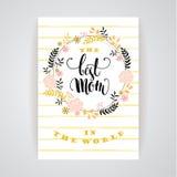 Szczęśliwy matka dnia literowanie matka dnia kartka z pozdrowieniami Zdjęcie Royalty Free
