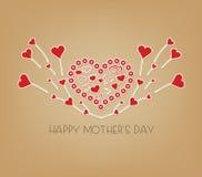 Szczęśliwy matka dzień z skrzydeł sercami Obrazy Stock