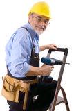 szczęśliwy mechanika Obrazy Royalty Free