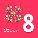 Szczęśliwy międzynarodowy kobiety ` s dzień 8 3d numerowa ilustracja szczęśliwa dzień matka s Eps10 ilustracja z miejscem dla twó Obrazy Stock