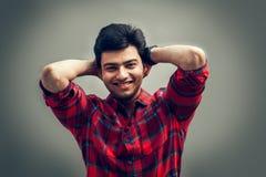 Szczęśliwy moment indyjski mężczyzna Zdjęcie Stock