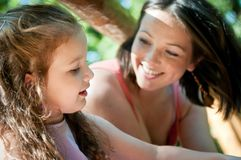 Szczęśliwy moment - matka z dzieckiem Obraz Royalty Free
