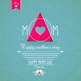Szczęśliwy Mothers dnia kartka z pozdrowieniami Zdjęcie Royalty Free