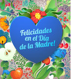Szczęśliwy Mothers dnia kartka z pozdrowieniami Obrazy Royalty Free