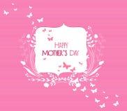 Szczęśliwy Mothers dnia kwiecisty ramowy kartka z pozdrowieniami Obraz Royalty Free