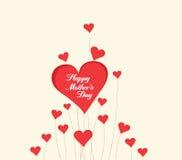 Szczęśliwy Mothers dzień z serce kartą Obraz Stock
