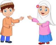 Szczęśliwy muzułmanin żartuje kreskówkę royalty ilustracja