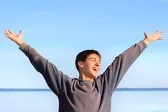 szczęśliwy nastolatek Fotografia Stock