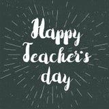 Szczęśliwy nauczyciela dnia świętowania sztandar Fotografia Stock