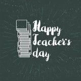 Szczęśliwy nauczyciela dnia świętowania sztandar Zdjęcia Royalty Free