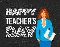 Szczęśliwy nauczyciela dnia świętowania sztandar Zdjęcia Stock