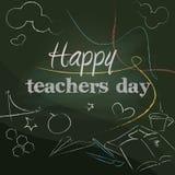 Szczęśliwy nauczyciela dzień Zdjęcia Royalty Free