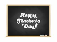 Szczęśliwy nauczyciela ` s dzień Chalkboard z literowaniem Plakat, sztandaru pojęcie ilustracja wektor